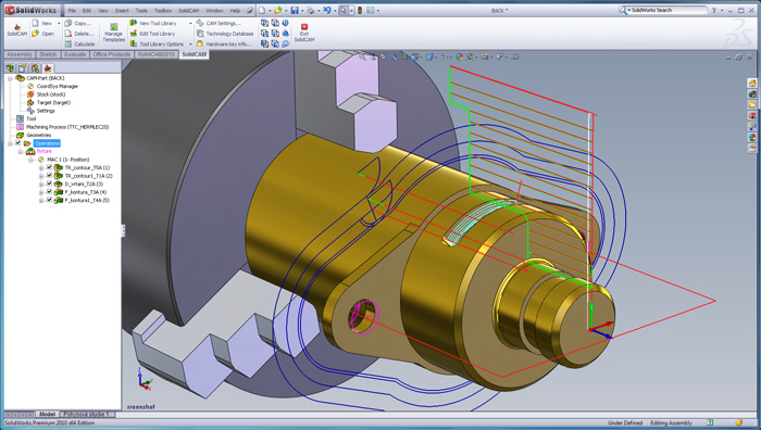 SolidCAM 2017: Kanalsynchronisation
